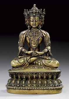 16th century, Tibet, buddha Vairocana, brass, private collection