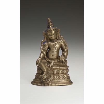 12th-13th century, Tibet or Bihar, White Jambhala, bronze,