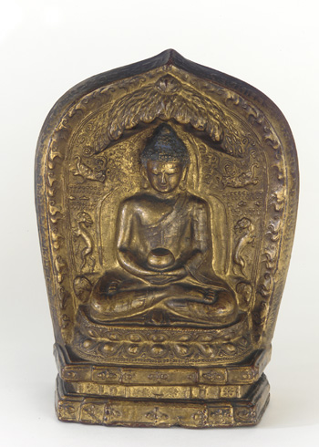 15th century, Tibet, Shakyamuni, terracotta with lacquer and paint, at the Freer Sackler gallery (USA).