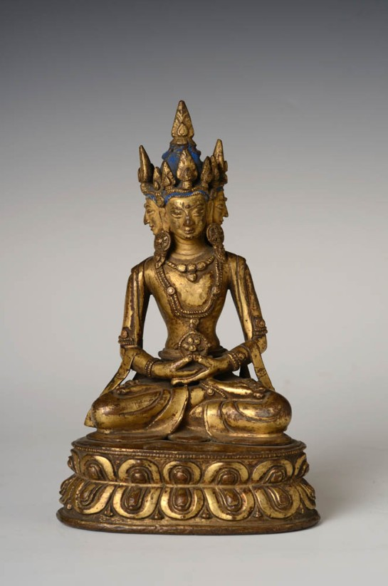 18th century, Tibet, Vairocana, gilt copper alloy, private collection.