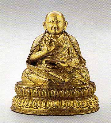 16th century, Tibet, 2nd Dalai Lama, private collection, published on lotusinthemud.