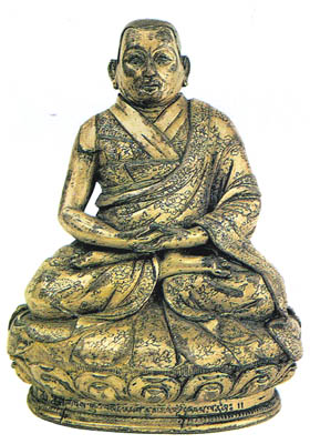 16th-17th century, Tibet, 3rd Dalai Lama, gilt copper, private collection.