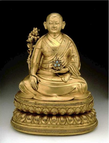 17th century circa, Tibet, 4th Dalai Lama, gilt copper alloy, photo by Rossi & Rossi.