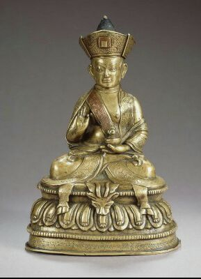 Undated, Tibet, Drugpa lama, brass, private collection, published on Himalayan Art Resources.
