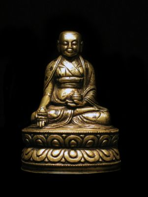 15th century, Tibet, lama, copper alloy, private collection.