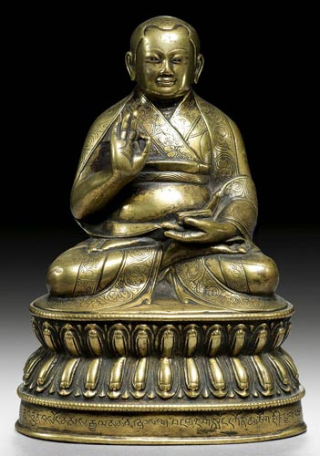 16th century, Tibet. lama, copper alloy, private collection.
