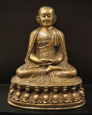 16th century, Tibet, lama, copper alloy, private collection, published on Himalayan Art Resources.