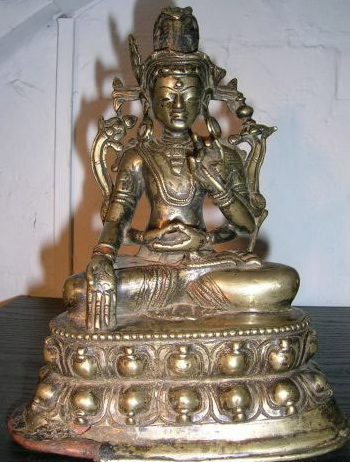 12th century circa, Western Tibet, Avalokiteshvara Chaturbhuja, copper alloy with copper inlay, private collection, published on Himalayan Art Resources.