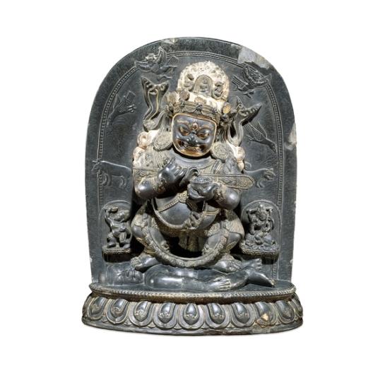17th century, Tibet, Mahakala Panjarnata, stone, at the British Museum in London (UK).