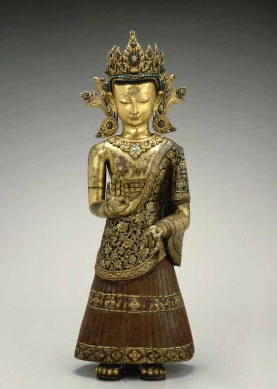 Same as before, gilt copper repoussé, at the San Francisco Museum of Art (USA).
