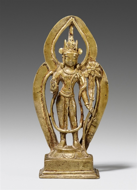 11th-12th century, Kashmir, Avalokiteshvara, brass, photo by Lempertz.