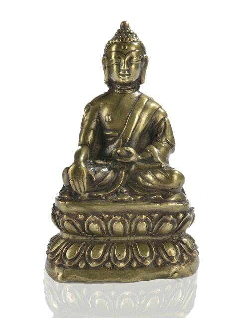 16th century, Tibet, Shakyamuni, brass, private collection, photo by Nagel.