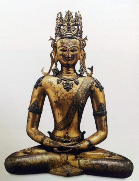 9th century, Central Tibet, labelled Vairocana, gilt copper alloy, private collection, published by