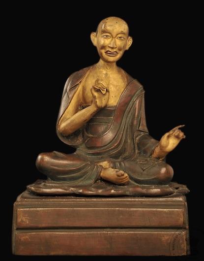 Vajriputra or Vanavasin?, 18th c. cir., Tibet, cop.(+cold g.), 24,5 cm, R.580 Indian M. in Kolkata